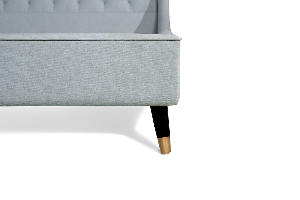Shows Upholstered bed detail