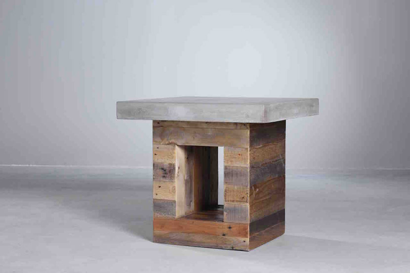 Reclaimed Pine with Concrete