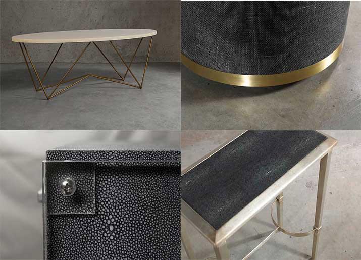 custom made furniture shagreen and coffee table