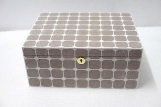 jewellery box shagreen with lock