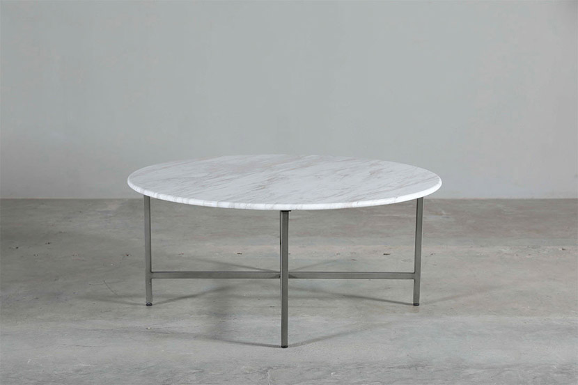 rectangle white marble coffee table with gold base