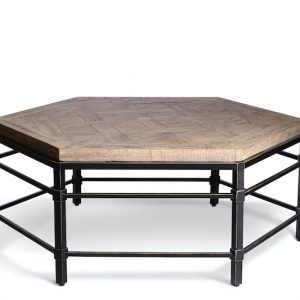 Shows Parquet Reclaimed Hexagonal Pine coffee table