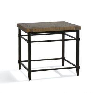 Shows Parquet Reclaimed Pine end table